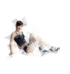 Abstract polygonal body triangles portrait for vector