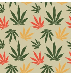 Seamless pattern of cannabis leaf vector