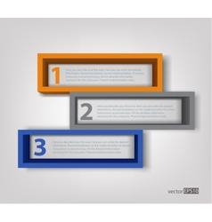 3d frames vector image vector image