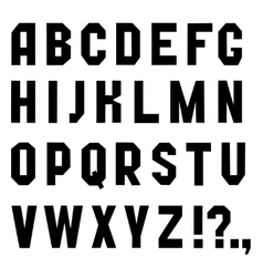 Font chopped vector