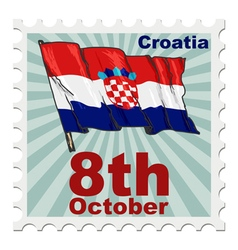 National day of croatia vector