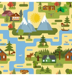 Great city map creatorseamless pattern map camping vector