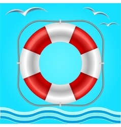 Rescue circle for help in water vector