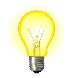 Bright glowing incandescent light vector
