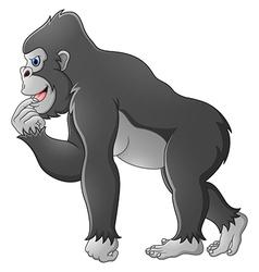 Happy gorilla cartoon vector image