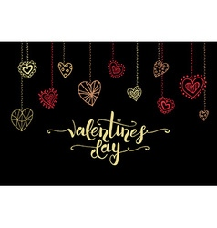 Hand sketched valentines day text as valentines vector