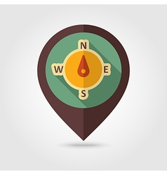 Compass retro flat pin map icon weather vector