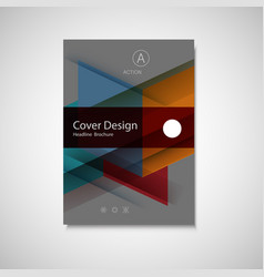 Abstract business flyer design template in vector