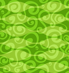 Abstract green floral curves seamless pattern vector