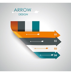 Abstract paper cut arrow background vector