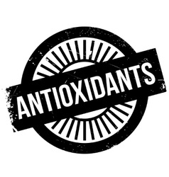 Antioxidants stamp rubber grunge vector