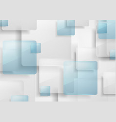 blue and grey glossy squares abstract background vector image vector image