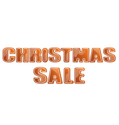 christmas sale poster isolated vector image vector image