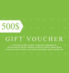 Collection stock gift voucher style vector