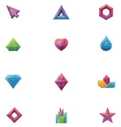 Crystals set vector