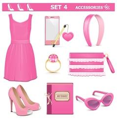 Female accessories set 4 vector