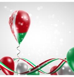 Flag of Belarus on balloon vector image vector image