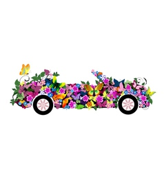 floral convertible vector image vector image
