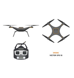 grey drone on a white background vector image vector image