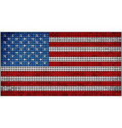 Grunge mosaic flag of usa vector