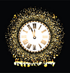 Happy new year background with gold glitter vector