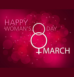 Happy women s day vector