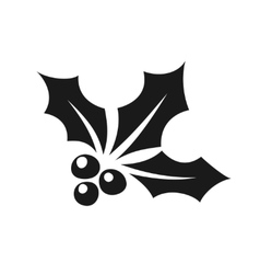 Holly berry black simple icon vector image