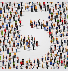 large group of people in number 5 five form vector image vector image
