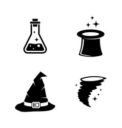 magic simple related icons vector image vector image