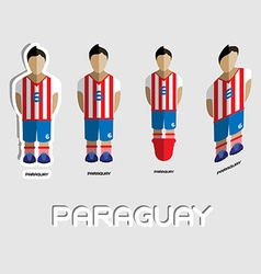 Paraguay soccer team sportswear template vector