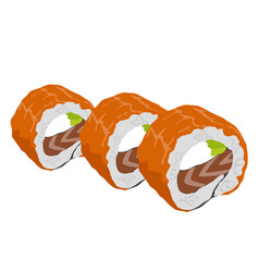 Philadelphia roll sushi with salmon vector