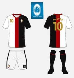 Set of soccer kit or football jersey template vector image vector image