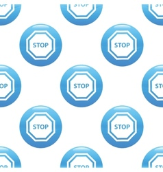STOP sign pattern vector image
