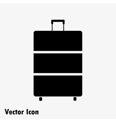 suitcase black icon vector image