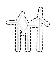 wind turbine icon image vector image