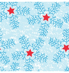 Star snow flakes vector
