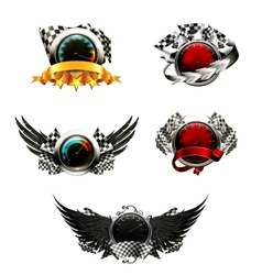 Set of racing emblems vector