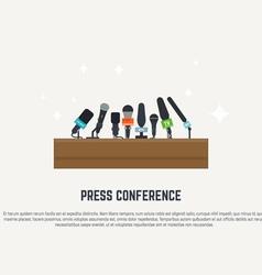 Press conference vector