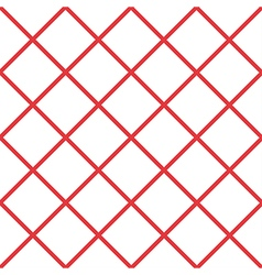 Red White Grid Chess Board Diamond Background vector image