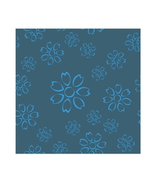 Dirty blue floral seamless pattern vector