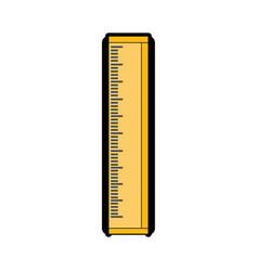 Ruler utensil icon vector