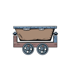 Metal mining trolley vector