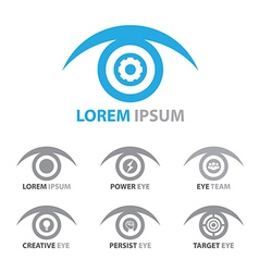 Eye icon symbol set vector