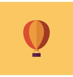 Balloon transportation flat icon vector
