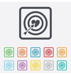 Target aim sign icon darts board symbol vector