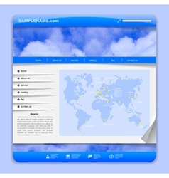 Airlines web design vector image