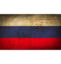 Flags russia with dirty paper texture vector