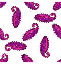 Seamless pattern of colorful paisley vector