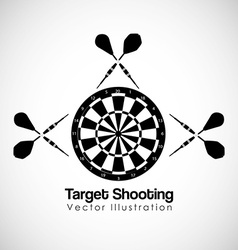 Target shooting design vector