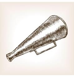 Retro horn loudspeaker sketch vector image